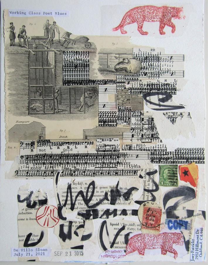 Mail art collab by Jim Leftwich, De Villo Sloan, Joey Patrickt