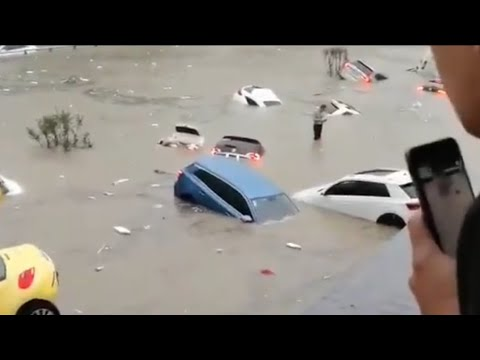 The videos coming from the flood in China are quite scary  Global warming and climate change effects