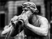 Parziale della Fontana del Moro a Roma