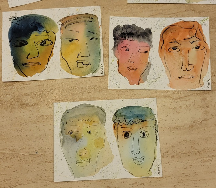 Friday Art Morning... faces