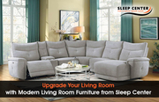 Upgrade Your Living Room with Modern Living Room Furniture from Sleep Center