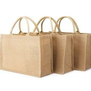 Logo Printed Eco Recycle Natural Jute Linen Shopping Tote Bags Supplier
