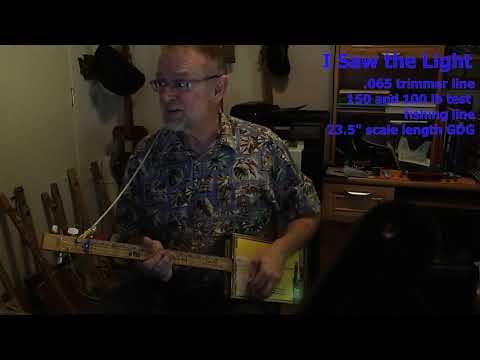 I Saw the Light: Weedwacker & Fishing Line 3-string Cigar Box Guitar