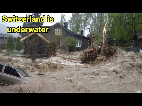 Switzerland is underwater | hailstorm and flood hits Switzerland