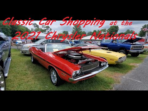 Classic Car Shopping at the 2021 Chrysler Nationals Video 3