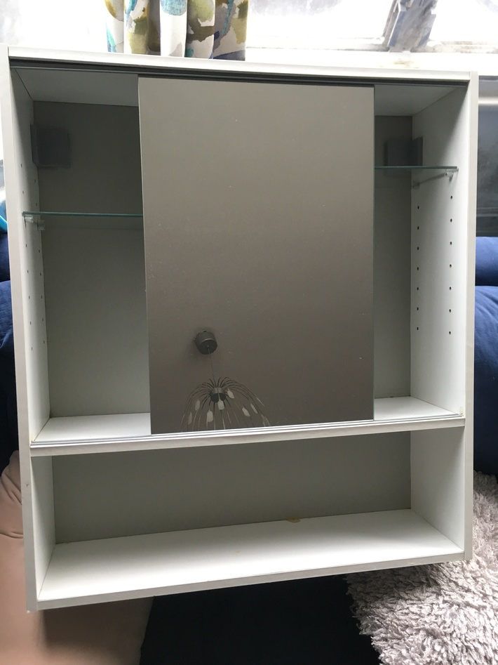 Free Ikea Bathroom Cabinet Sliding Mirror H 67cm X L 60cm D 16 5cm Harringay Online