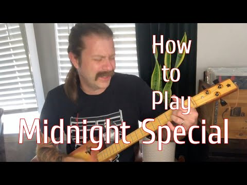 How To Play Midnight Special on 3-string Cigar Box Guitar