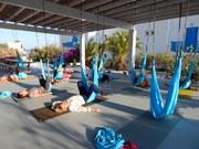 yoga aérien en Grèce, octobre 2021
