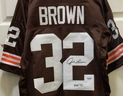 JIM BROWN SIGNED BROWNS JERSEY