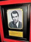 JIMMY STEWART SIGNED CHECK DISPLAY