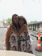 Donna Gibson and Sue Bell  - CC dresses