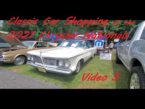 Classic Car Shopping at the 2021 Chrysler Nationals Video 5
