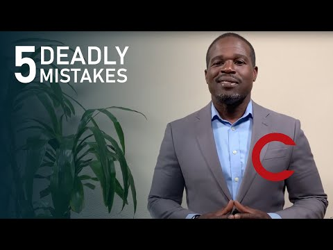 Five deadly mistakes