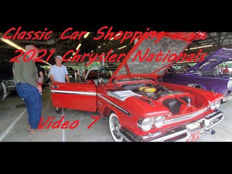 Classic Car Shopping at the 2021 Chrysler Nationals ( MOPAR car corral ) Video 7