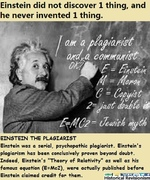 Einstein the Plagiarist,,,stole every theory,kike cabal supported him