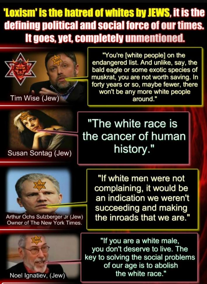 Lexism is the hatred of whites by jews
