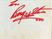 Ringo Starr signed late 1960's piece of white paper.