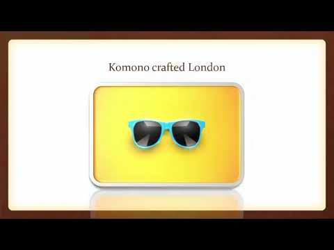 Findout The Professional And Sophisticated Komono Sunglasses