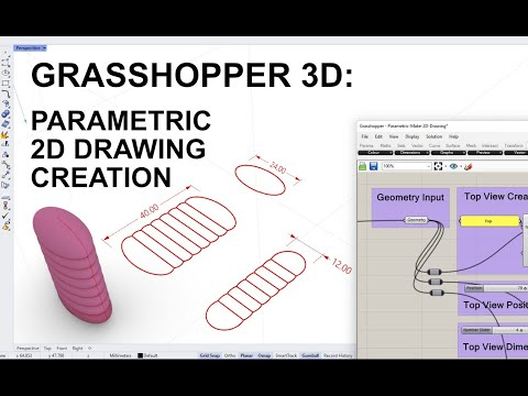 Grasshopper 3D Definition: Parametric 2D Drawing Creation
