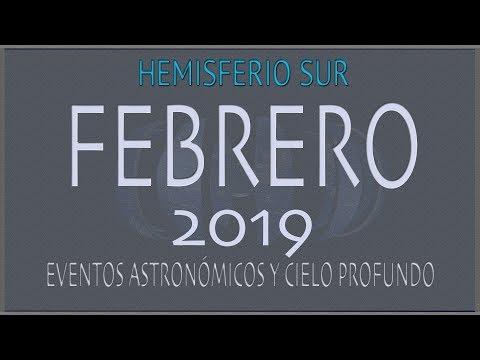 CIELO DE FEBRERO 2019. HEMISFERIO SUR