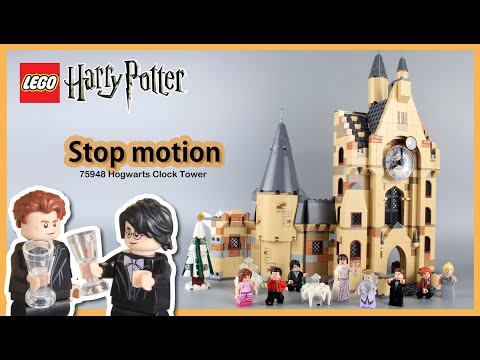 LEGO Harry Potter Hogwarts Clock Tower 75948 Stop Motion Speed Build Review