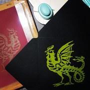 Screenprinted basilisk envelopes
