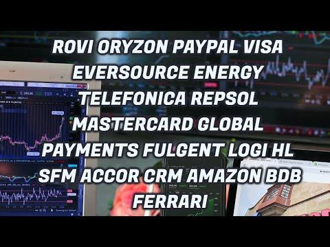 Video Análisis con Alberto García Sesma: Rovi, Oryzon, Telefónica, Repsol, Paypal, VISA, Amazon, Ferrari...