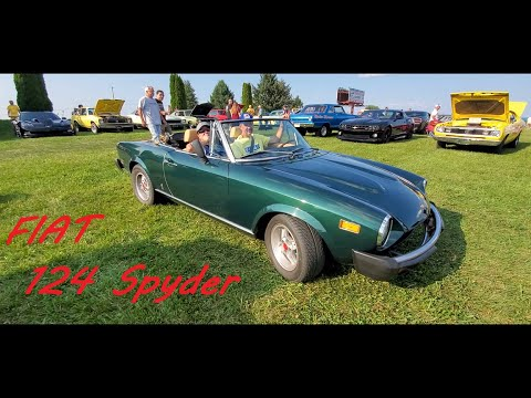 1978 FIAT 124 Spyder At the Motor Menders Friday Night Cruise July 2021