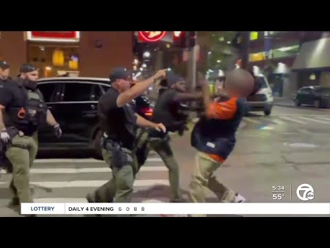 Detroit Police reviewing video that shows officer punch man in Greektown