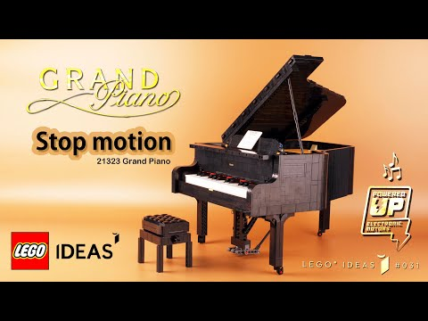 LEGO IDEAS Grand Piano 21323 Stop Motion Speed Build Review
