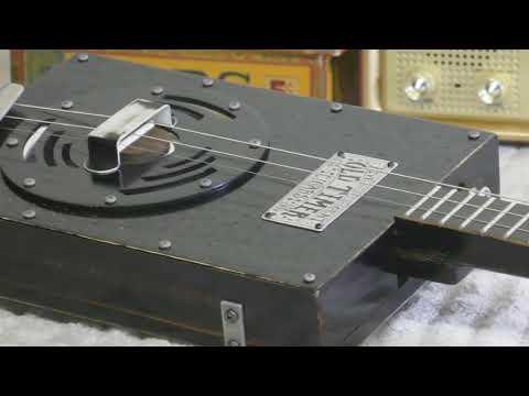 Hot Rod Fender Mustang Amp & Electric Resonator Cigar Box Guitar