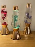 Crestworth 1, 2, & 3 Astro. Clear/ red, green, & purple metallic wax bottles