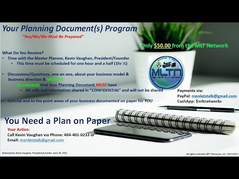 The MLT Network's Your Planning Document Program
