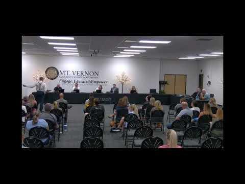 Mt. Vernon School Board Meeting - Dr. Dan Stock MD