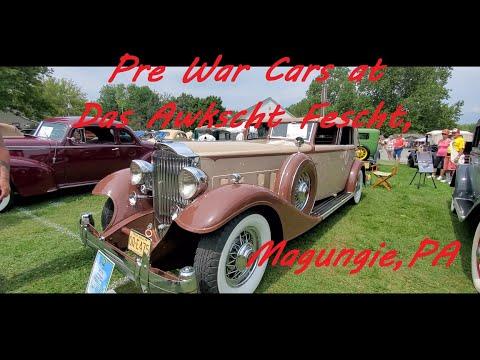 Pre War Cars at the 2021 Das Awscht Fescht