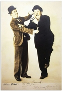 Laurel and Hardy signed photo