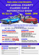PACE Lodge, #558 Presents 6th Annual CLASSIC CAR and MOTORCYCLE SHOW