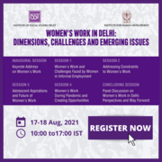 """ISST and IHD workshop on """"Women's work in Delhi: Dimensions, Challenges and Emerging Issues""""."""