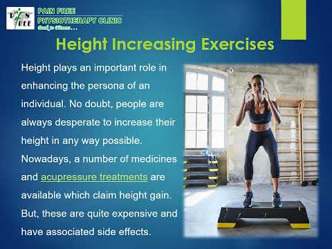 Height Increasing Exercises and Physiotherapy | Pain Free Physiotherapy
