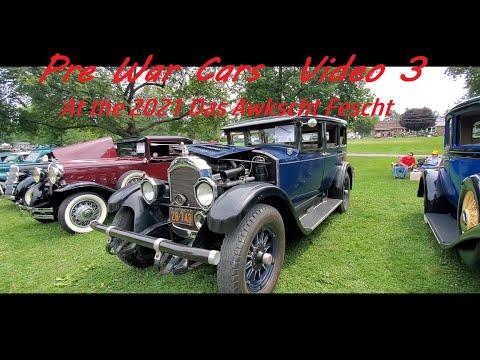 Pre War Cars  Video 3 ( At the 2021 Das Awkscht Fescht car show )