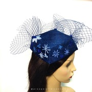 Hand embroidered Blue Diamond by Prosperelle