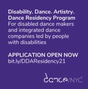 Dance/NYC Announces Disability. Dance. Artistry. Residency Program: Application Deadline October 10