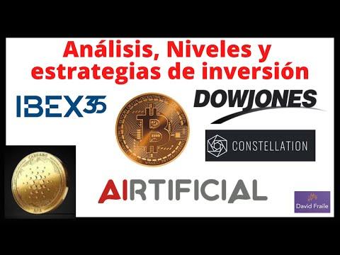Video Análisis con David Fraile: Ibex35, Dow Jones, Cardano, Bitcoin, Constellation y Airtificial