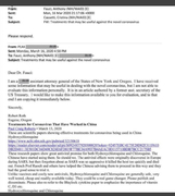 Liar Fauci's Email.
