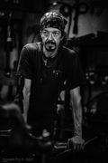 Jeri blacksmith at Thistle Rock Forge