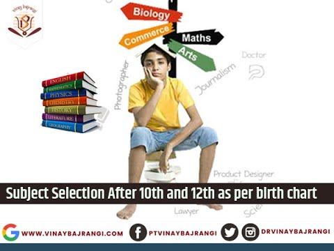 Subject Selection after 10th and 12th Class - ज्योतिष के बाद 10वीं और 12वीं के बाद विषय का चयन
