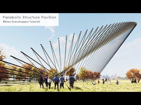 Parabolic Structure Pavilion Rhino Grasshopper Tutorial