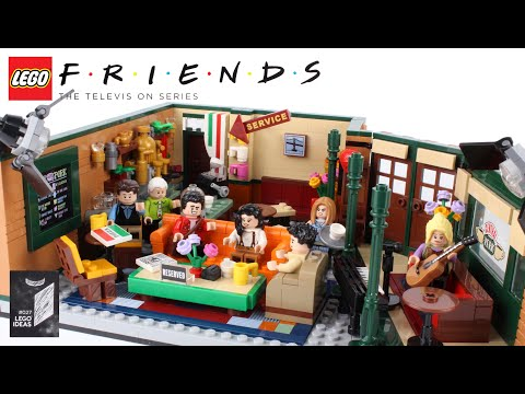 LEGO Ideas Friends The Television Series Central Perk 21319 Stop Motion Speed Build Review
