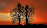 tramonto infuocato !
