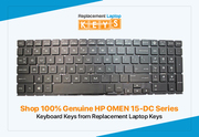 Shop 100% Genuine HP OMEN 15-DC Series Keyboard Keys from Replacement Laptop Keys